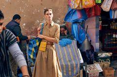 Zimt & Zucker: Hemdkleid mit Bindegürtel