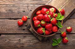 Erdbeersaison: Erdbeeren in einer Schüssel