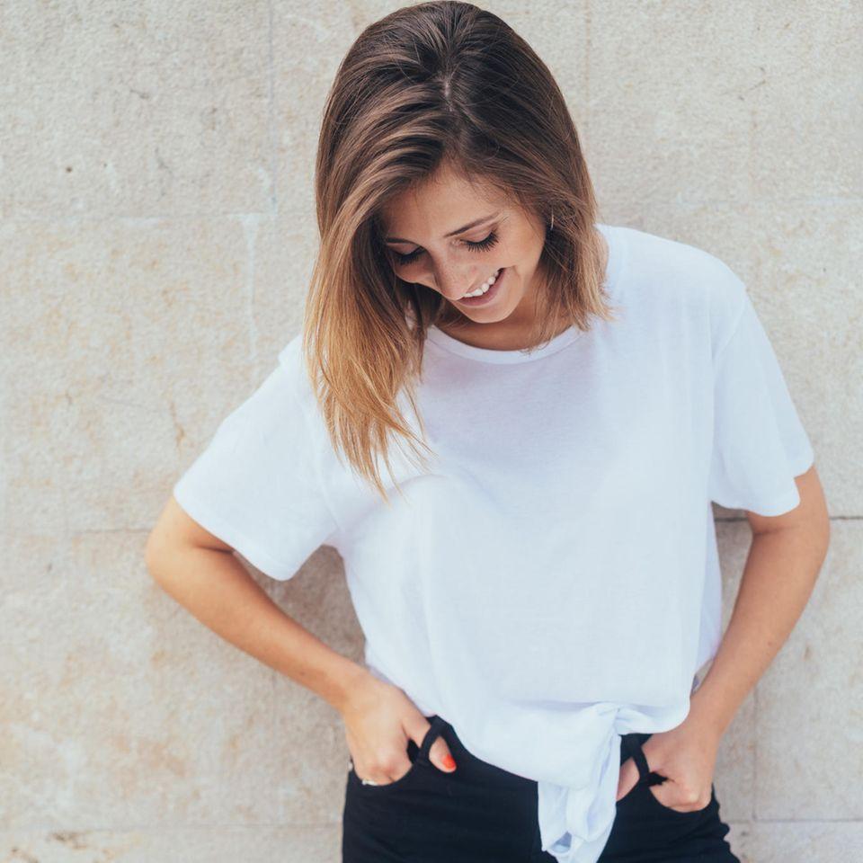 Mischwerk: Etwas schüchterne Frau