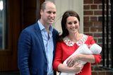 Prinz William & Herzogin Kate mit Prinz Louis