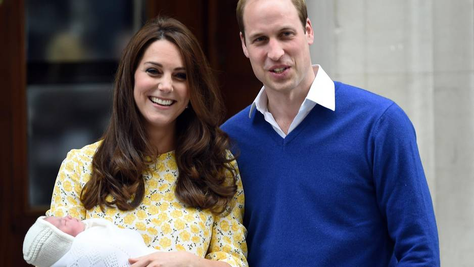 Prinz William & Herzogin Kate mit Prinzessin Charlotte