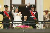 Kronprinzessin Mette-Marit & Kronprinz Haakon mit Prinzessin Ingrid Alexandra und Marius Hoiby