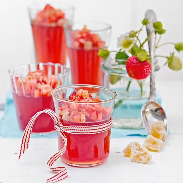 Erdbeer-Gelee mit Ingwer