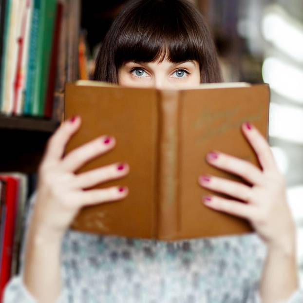 Hochbegabt: Frau mit Buch