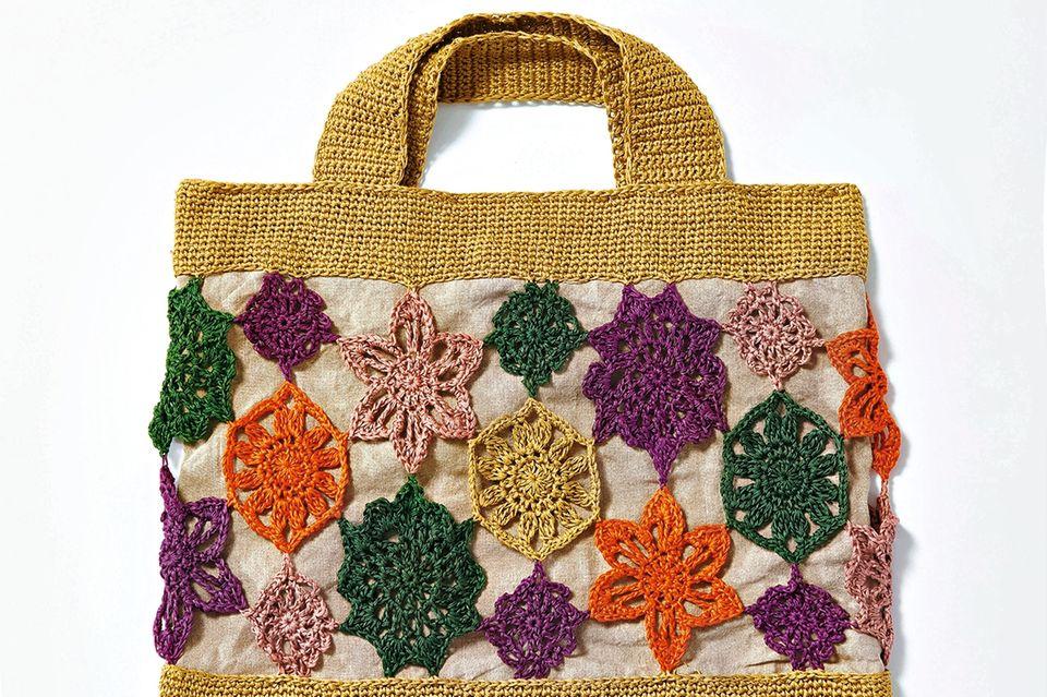 Schnittmuster: Sommerhäkeln - Blütentasche