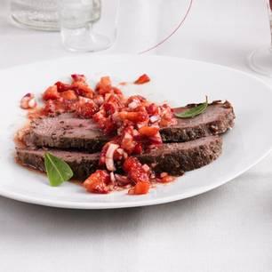 Roastbeef mit Erdbeer-Salsa