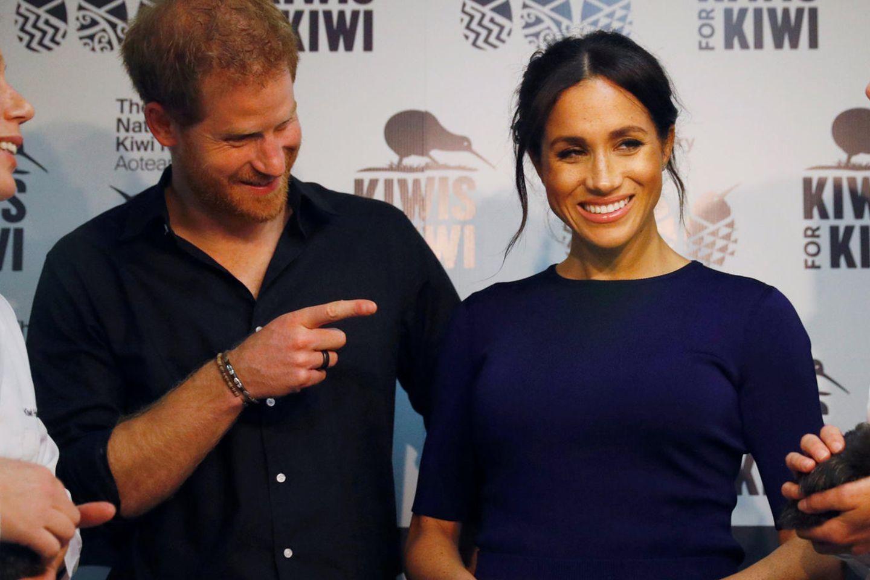 Wilde Theorie: Ist Baby Sussex etwa schon da: Prinz Harry und Herzogin Meghan
