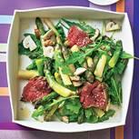 Spargelsalat mit Rinder-Tataki