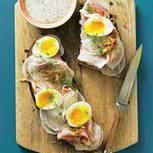 Stulle mit Schinken und Ei
