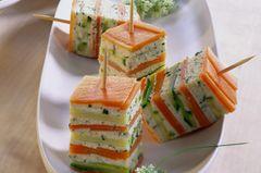 Zucchini-Lachs-Würfel