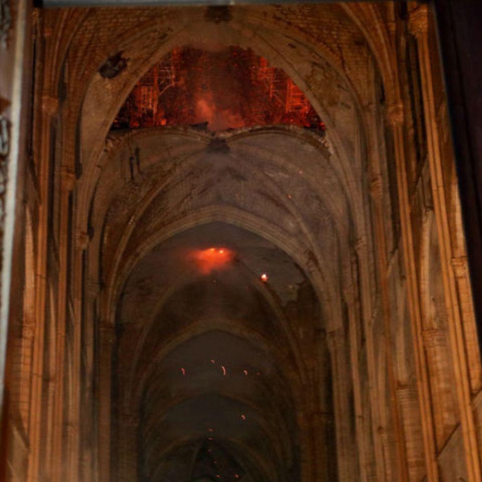 Notre-Dame: So sieht es jetzt innen nach dem Katastrophenbrand aus