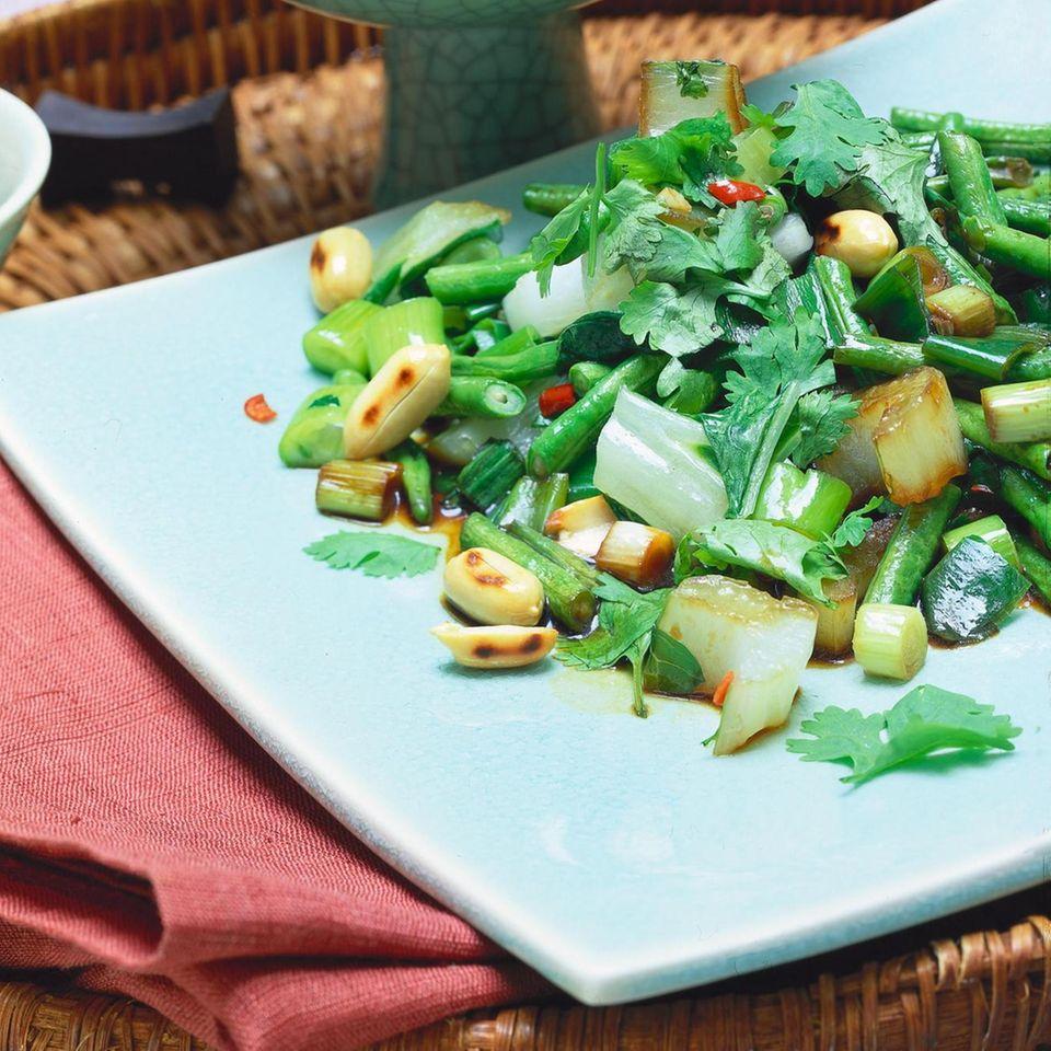 Pak-Choi-Gemüse mit Tofu