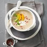 Maronensuppe mit Orangenfilets