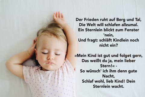 Schlaflied: Kleines Mädchen schläft