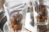 Sherry-Rosinen mit Geflügelleber