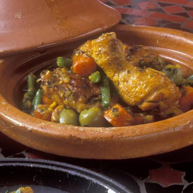 Huhn-Tajine mit Oliven