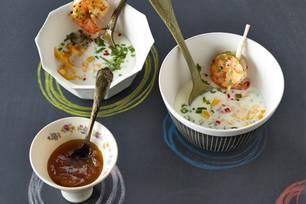 Joghurtsuppe mit Pfirsich
