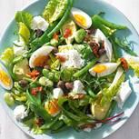 Dreierlei-Bohnensalat mit Mozzarella