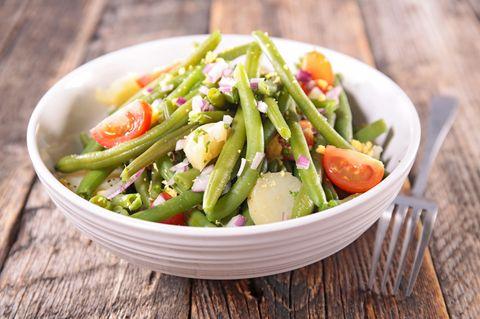 Kartoffelsalat mit grünen Bohnen