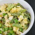 Kartoffelsalat mit dicken Bohnen