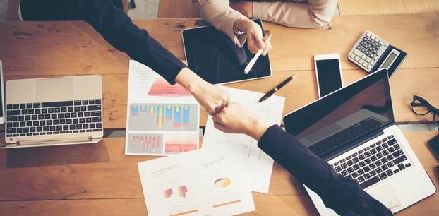 Finanz-Start-ups: Arbeitstisch