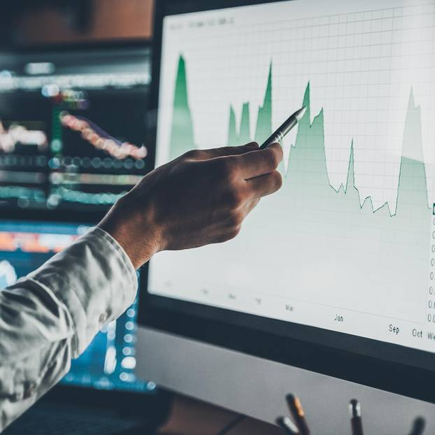 Börsenlexikon: Bildschirm Schwankungen