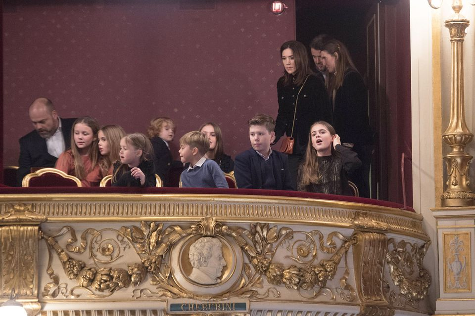 Dänemarks Royals mit Povlsens Familie