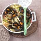 Muscheln in Fenchel-Orangen-Sud mit Wermut
