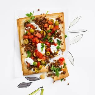 Filo-Pizza mit Hack