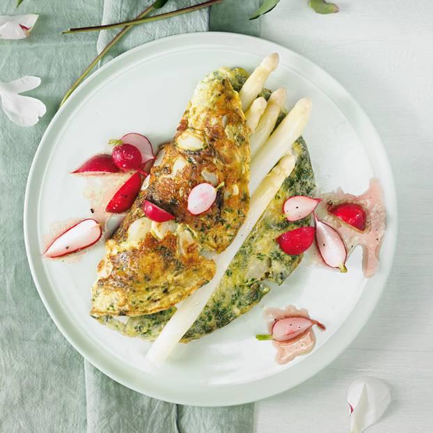Spargel-Kräuter-Omelett