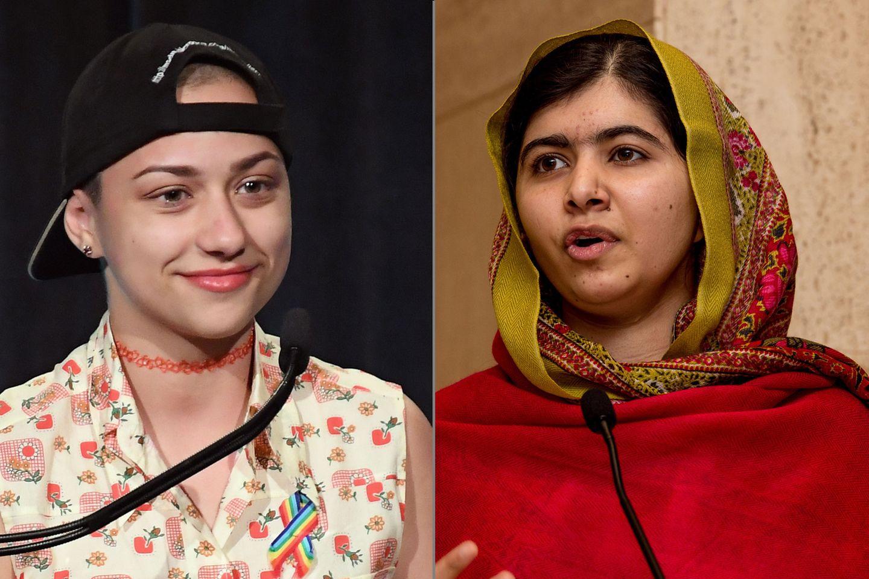 Teenager-Mädchen ändern sich öffentlich