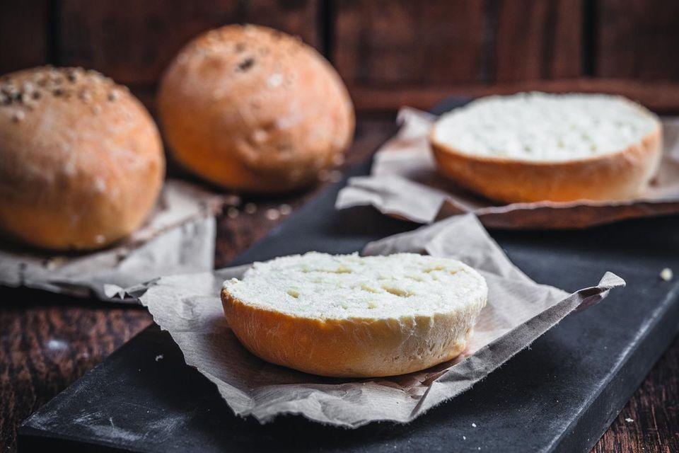Food-Styling: Mediterraner Halloumi-Burger