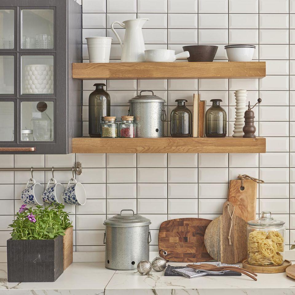 Metro-Fliesen: Küche mit Metro-Fliesen