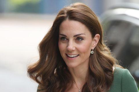 Herzogin Kate im grünen Kleid