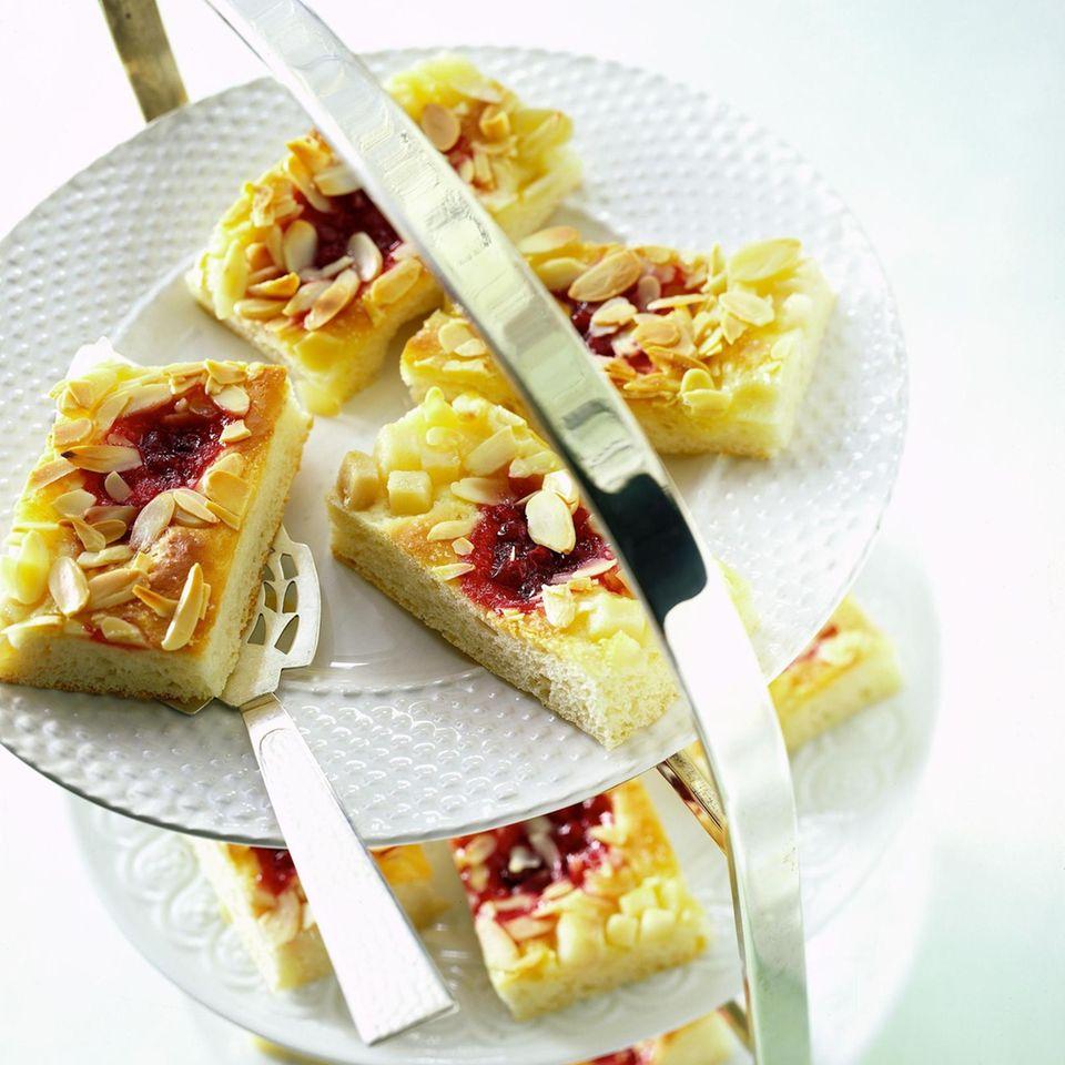 Butterkuchen mit Birnen