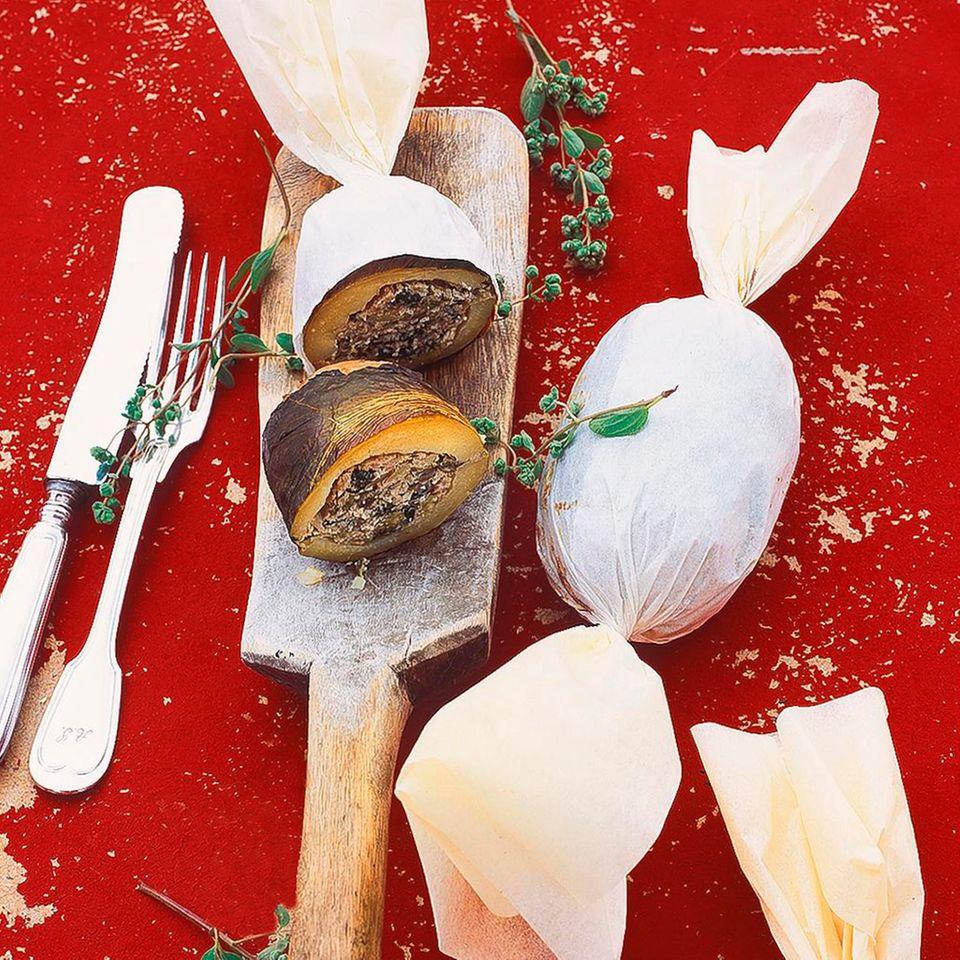 Folienkartoffeln mit Endiviensalat