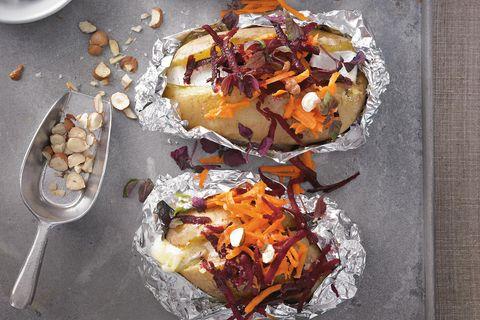 Gebackene Kartoffeln mit Blauschimmelkäse