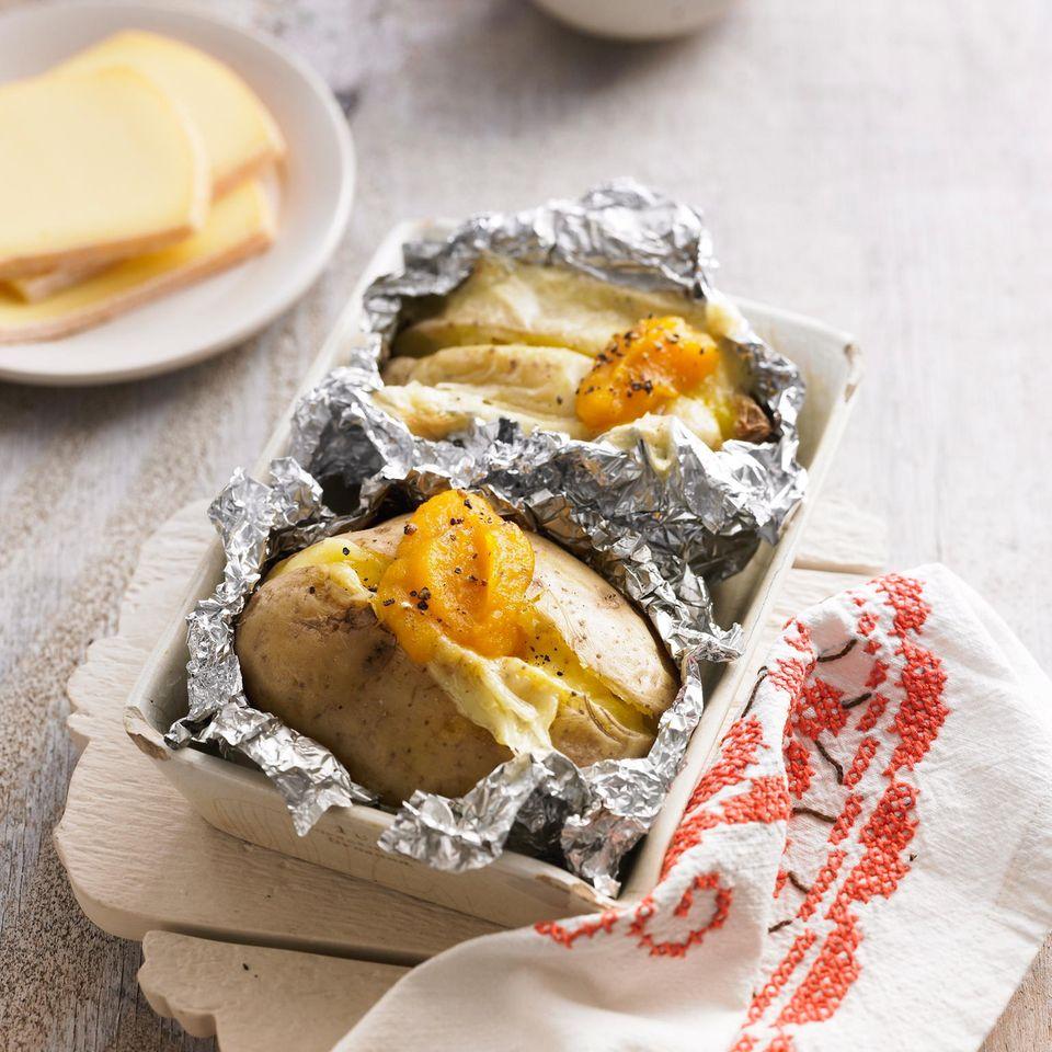 Ofenkartoffeln mit Raclette-Käse