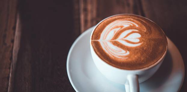 Coffee in a cone: Tasse Kaffee