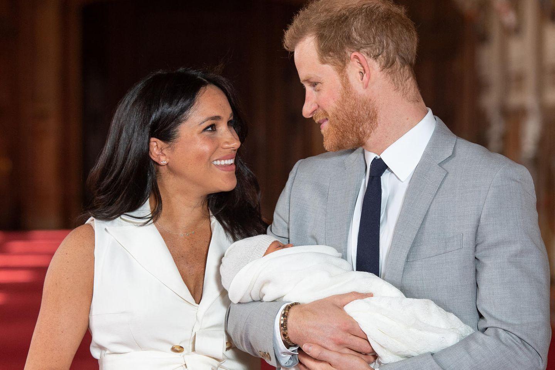 Meghan Markle: Meghan mit Harry und Baby Sussex