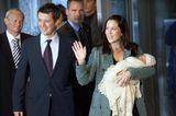 Dänemarks Kronprinzenpaar Mary & Frederik mit Prinz Christian