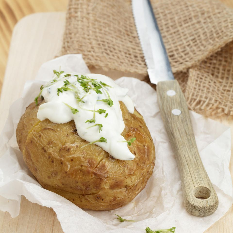 Kartoffeln grillen: Folienkartoffel