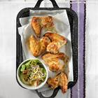 Chicken-Wings mit Gurkensalat