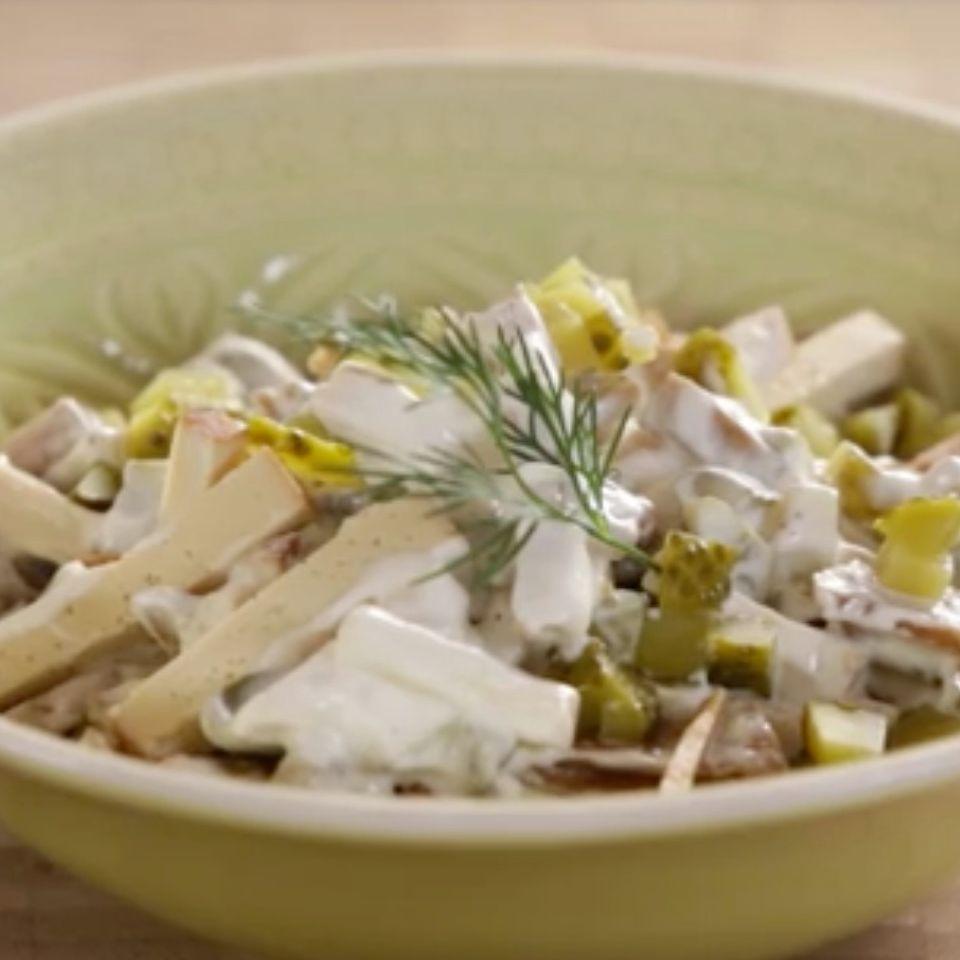 """Vegane Mayonnaise und """"Wurstsalat"""""""