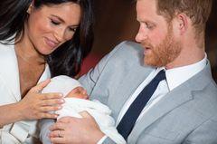 Baby Archie: Meghan und Harry mit ihrem neugeborenen Sohn