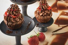 Erdbeer-Schoko-Espresso-Cupcakes