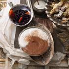 Nachspeise: Schoko-Mousse mit Zimtsahne