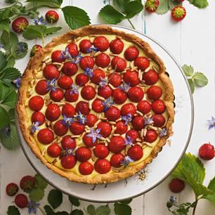 Erdbeerkuchen: Tarte mit Erdbeeren