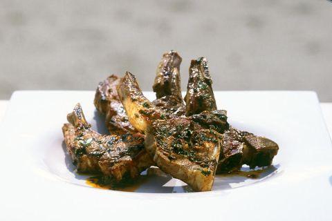 Lammchops mit Kräutermarinade