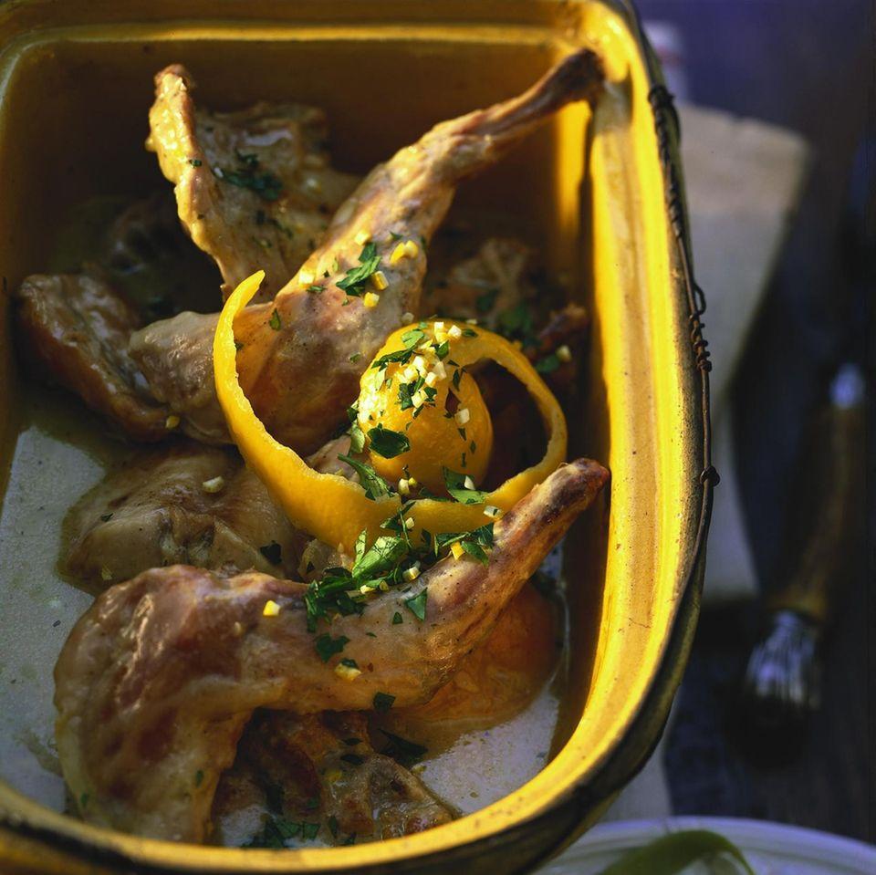Kaninchen mit Zitrone